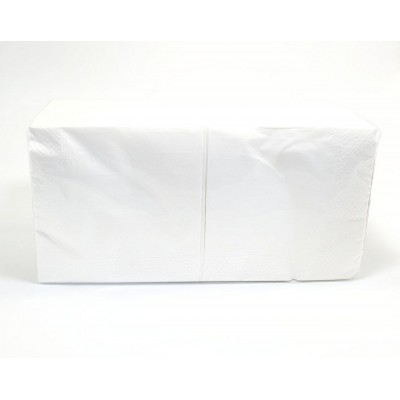 Серветки банкетні 33х33см 2шар білі 200шт Хорека А (4уп/ящ)