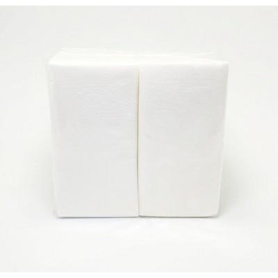 Серветки банкетні 33х33см 1шар білі 150шт HOZSERVICE  1/8 (10уп/ящ)