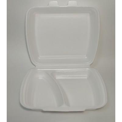 Упаковка д/2 блюд ВПС( HP-2) 240х210х70мм 2/ділення (125шт/уп)