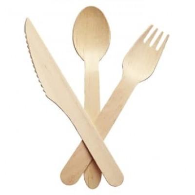 Ножі столові дерев'яні 16,5см 100шт/уп (10уп/ящ)