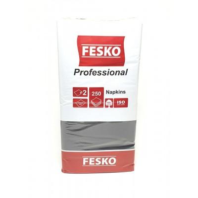 Серветки банкетні 33х33см 2шар чорні 250шт FESKO (4уп/ящ)
