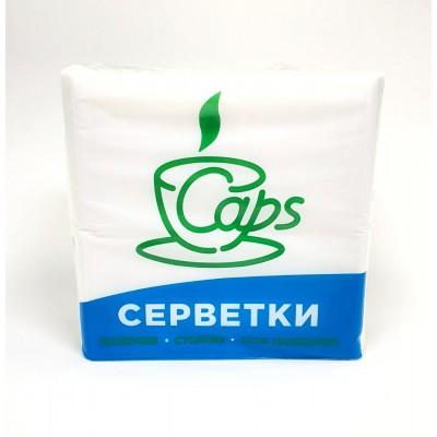 Серветки паперові 21х22см 1шар білі БАРНІ 400 КС (10уп/ящ)