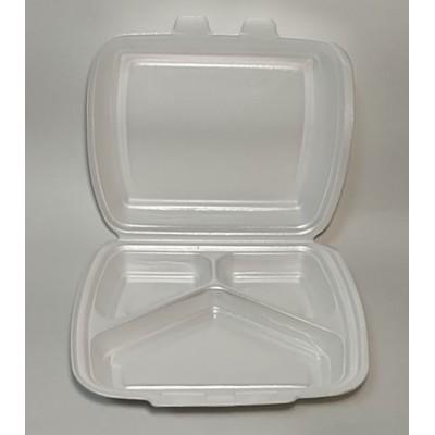 Упаковка д/2 блюд ВПС( HP-3) 240х210х70мм 3/ділення . (125шт/уп)